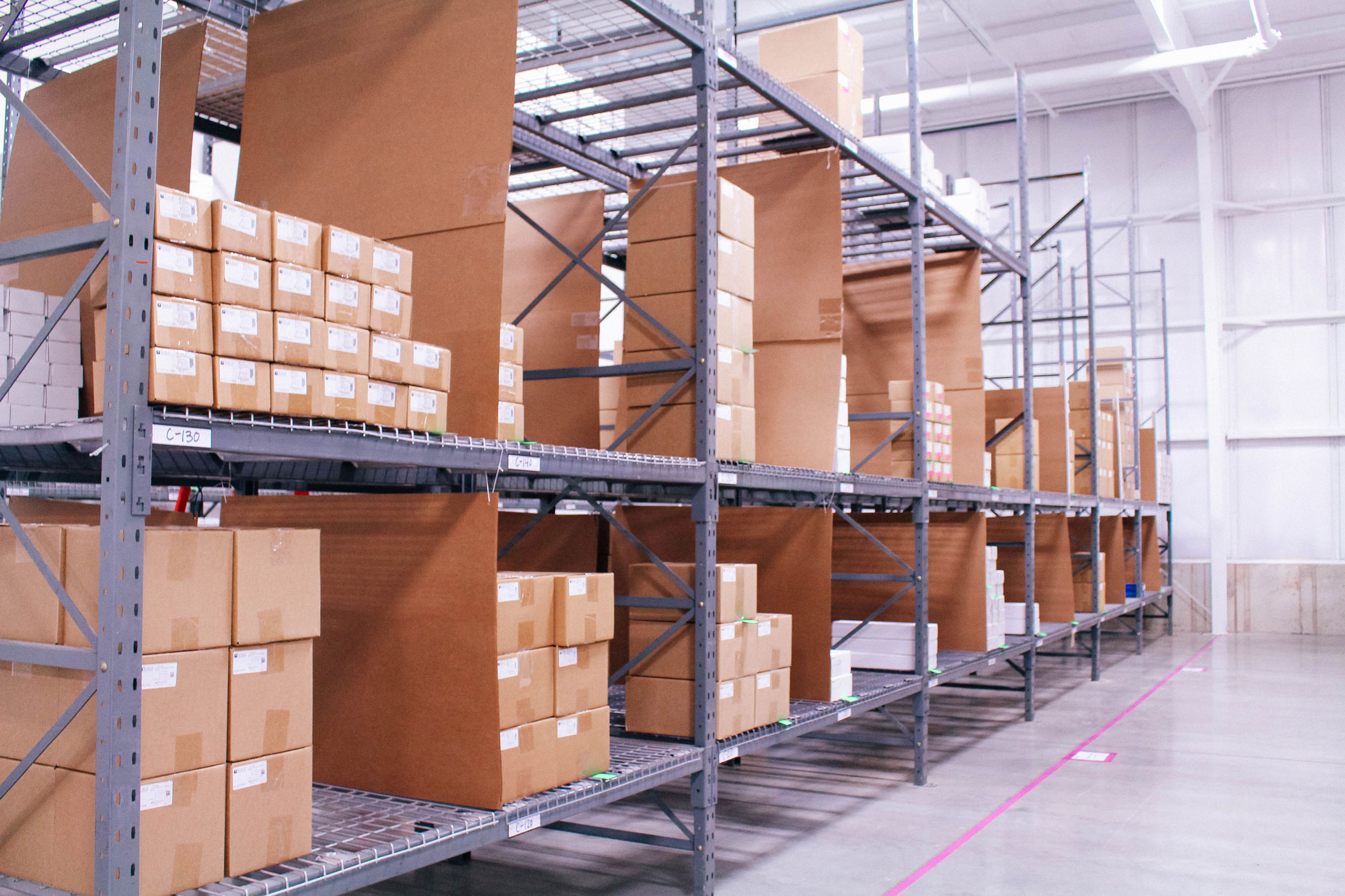 An image of a MediSurge warehousing facility.
